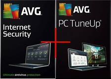 AVG Internet Security + PC TuneUp NEW 2016 Version for 1 PC & for 1 year