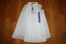 NWT Womens FEVER White Sleeveless Button Up W/ Tank Shirt Size L Large