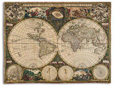 70x54 OLD WORLD MAP Globe Tapestry Afghan Throw Blanket