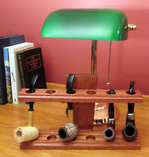 Handmade Craftsman Style Smoking Pipe Stand Hand Rubbed Finish Solid Oak Rack
