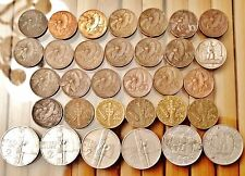 32 Italy Coins, 1920s to 1940s - 10 Cent, 2 Lire & 5 Lire