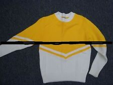 Used Cheerleading Sweater Yellow/White Available Girls Size 10 - misses size 18
