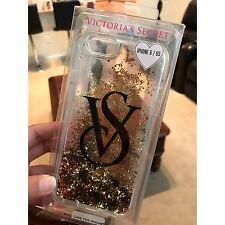 New Victoria's Secret iPhone 6/6S Case Cover Gold Moving Glitter
