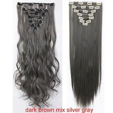 Real Thick Full Head Clip In Hair Extensions Long Straight Hair Extentions FQ1