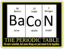 "Pork Bacon Pig Chemistry Funny Slogan Car Bumper Vinyl Sticker Decal 5""X4"""