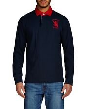 Hackett H.R.F.C. Logo Rugby Shirt Navy Long Sleeved  55% Off RRP - Large