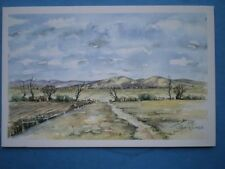 POSTCARD WORCESTERSHIRE MALVERNS EARLY MORNING WATERCOLOUR