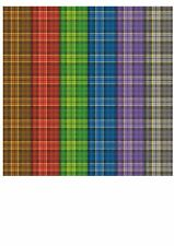 24 SHEET CREATIVE PAPER PACK, TARTAN PATTERNS, A5+, 155 X 215MM, 120GSM,