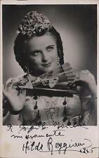 HILDE REGGIANI - Argentine Soprano - Orig. Handsigned B/W Photograph - 1945