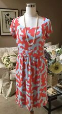 J McLaughlin Catalina Cloth Emma Dress SZ Large MSRP $205 Coral & Blue NWT