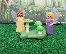 PLAYMOBIL  TWO MINATURE FAIRES WITH TOADSTOOL