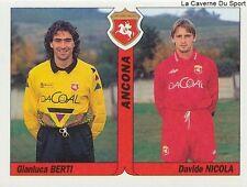 N°350 GIANLUCA BERTI ITALIA ANCONA AS.ROMA STICKER TUTTO CALCIO 1995 SL