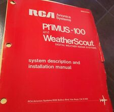 RCA Primus-100 & WeatherScout Install Manual