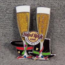 HAT PIN ~ HARD ROCK CAFE ~ 2008 ~ HAPPY NEW YEAR ~ CHAMPAGNE GLASSES ~ PARTY HAT
