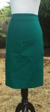 NWT$130 J. Crew No. 2 Pencil skirt, double serge wool in vivid jade size 6