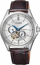 Citizen Luxury Automatic Japan Sapphire Gents Leather Elegant Watch NP1010-01A
