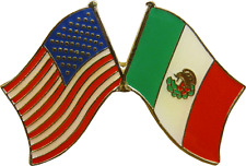 47071 United States of America Mexico Flags ENAMEL PIN Badge Button Lapel