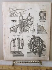 Vintage Print,EARLY MACHINERY,Dictionary Arts+Science,1771