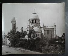 rare antique old PHOTO LEROUX NOTRE DAME D'AFRIQUE AFRICA  ALGERIA ALGER
