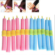 12x New Soft Foam Curlers Makers Bendy Twist Curls Tool DIY Styling Hair Rollers