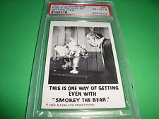 "1964 THE MUNSTERS card  #70  ""...smokey the bear""  psa 6  (205)"