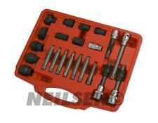 22 pc alternateur roue libre poulie suppression socket bit set garage service tool kit