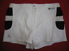 Short Le Coq Sportif Tennis Blanc ATP Collection YANNICK NOAH ancien - 90