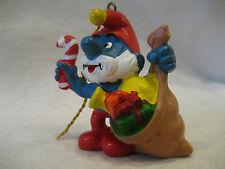 1981 vintage Papa Smurf Christmas ornament Schleich Peyo Smurfs pvc figure RARE