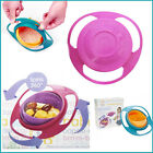 Baby Feeding Bowl Gravity Non-Spill 360 Degree Fruit Food Snack Rotating Plate