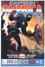 US CAPTAIN AMERICA # 1 2ND PRINT VARIANT COVER MARVEL NOW RARE!