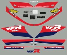 86 Honda VFR750F Complete Decal Set Pin Striping Warning Caution Decals 1986