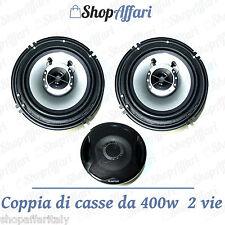 KIT COPPIA CASSE AUDIO 400W 2 VIE 16 CM  COPPIA NUOVI ALTOPARLANTI AUTO TS-G1641