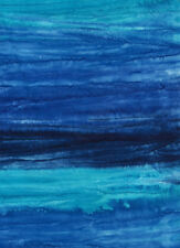 Anthology Batik Hand Painted Collection Fabric, Variegated Blues