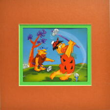 Flintstones - FRED DON'T GOLF Print Professionally Matted Barney