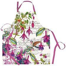 Michel Design Works Cotton Apron Fuchsia Floral - NEW