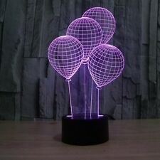 3D Lamp Balloons Optical Illusion Led Night Light 7 Colors Touch Switch