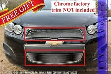 GTG, 2012 - 2014 CHEVY SONIC 2pc CHROME UPPER & BUMPER BILLET GRILLE KIT