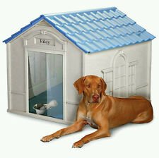 X-Large Dog House Deluxe All Weather Outdoor Extra Durable Pet Shelter Big Dogs