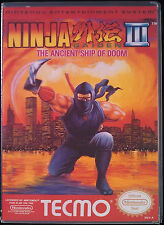 Ninja Gaiden 3 III NES High Quality Box art/Case by RetroDan