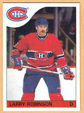 1985-86 OPC Grey-Back Test, Canadiens' Larry Robinson, Mint, Plus Regular Issue)