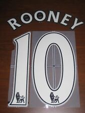 Manchester United Rooney #10 Authentic Soccer Name Set Font For Jersey Futbol