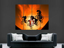 BMX SUNSET TRICKS JUMPS  ART WALL LARGE IMAGE GIANT POSTER