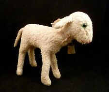 "Antique Vintage Steiff 1930s Lamb Wool Plush With Button In Ear 6"" 17cm"