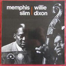 MEMPHIS SLIM  WILLIE DIXON   LP ORIG FR  CHANT DU MONDE  FOLKWAYS