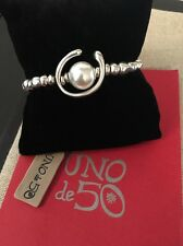 Uno De 50 Beaded Silver and Pearl Elastic Bracelet - NWT - PUL1358 Another round