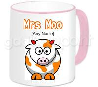 Personalised Gift Animals Silly Cow Coffee Tea 11oz Mug Any Name Any Message Cup