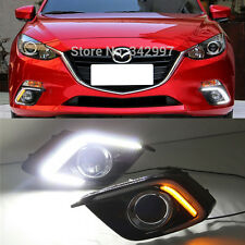 2x 63-LED High Power Switchback LED Daytime Running Light Kit For 2014-up Mazda3