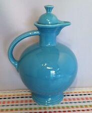 Vintage Fiestaware Turquoise Carafe with Lid Fiesta Blue Water Jug - Beautiful