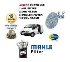 FOR FORD TRANSIT 2.4Di 2000-2006 SERVICE KIT OIL AIR FUEL POLLEN FILTER +7 L OIL