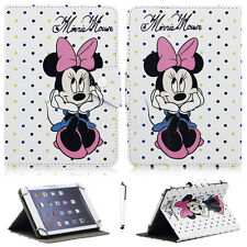 "For Various 7"" ~ 7.9"" Tablet Universal Minnie Mouse Pattern Leather Case Cover"
